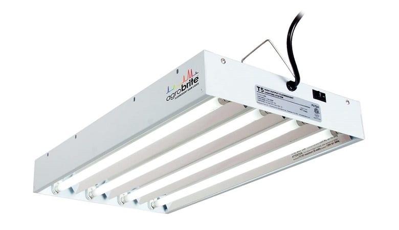 Hydrofarm Agrobrite Fluorescent 4 Tube Grow Light System